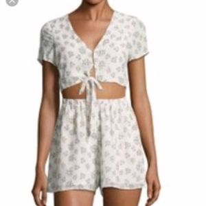 Lucca Couture White Floral Romper